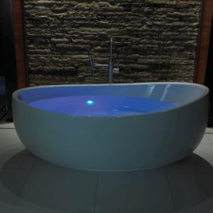 Blue Colour Bath