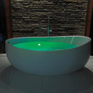 Green Colour Bath
